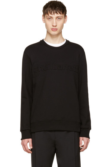 Neil Barrett - Black '#neilbarrett' Sweatshirt