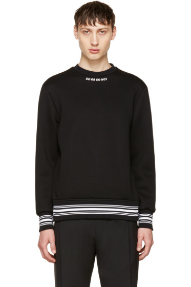 Neil Barrett - Black 'Do or Do Not' Sweatshirt