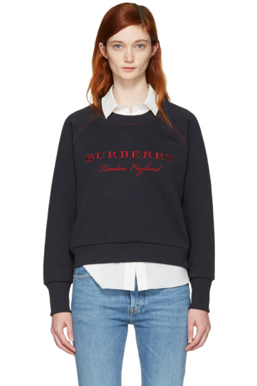 Burberry - Navy Torto Logo Sweatshirt