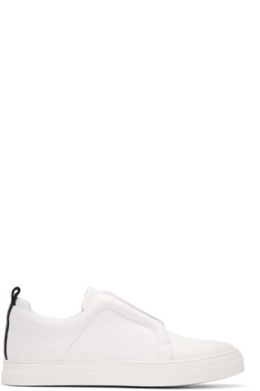 Pierre Hardy - White & Black Slider Sneakers