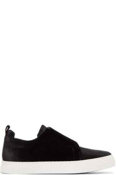 Pierre Hardy - Black Velvet Slider Sneakers