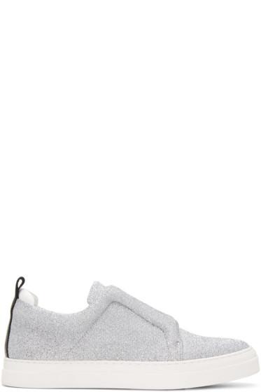 Pierre Hardy - Silver & Black Slider Sneakers