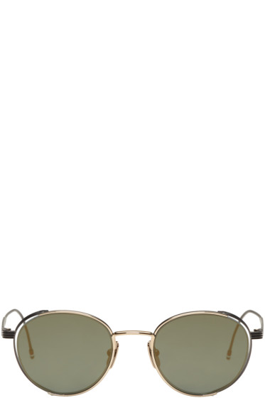Thom Browne - Black & Gold TB 106 Sunglasses