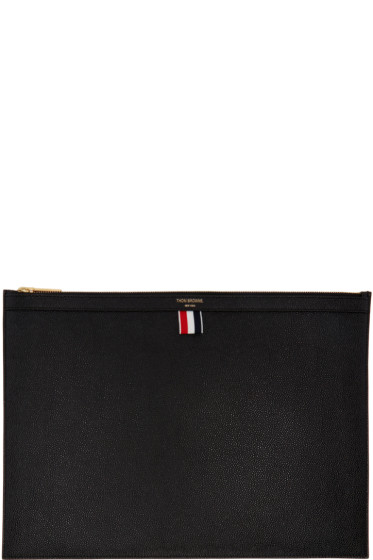 Thom Browne - Black Large Laptop Holder