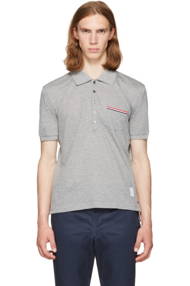 Thom Browne - Grey Pocket Polo