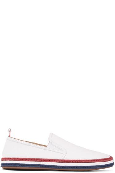 Thom Browne - White Leather Espadrilles