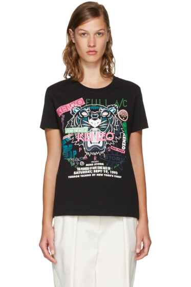 Kenzo - Black Limited Edition 'Flyer x Tiger' T-Shirt