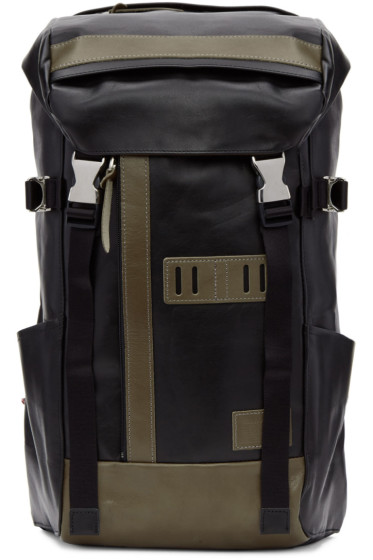 Master-Piece Co - Black Leather Backpack