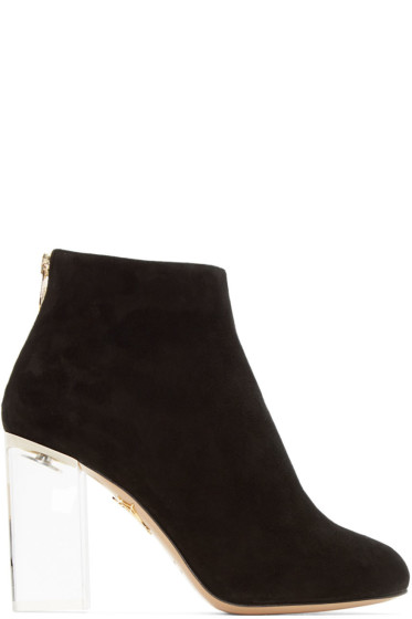 Charlotte Olympia - Black Suede Alba Boots