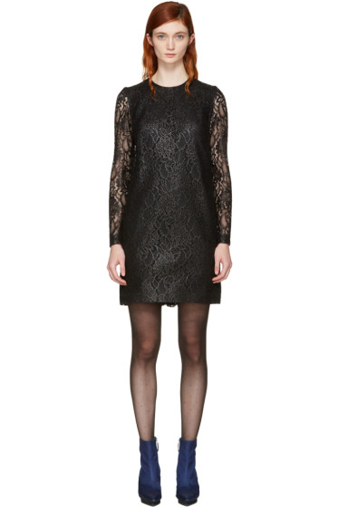 MSGM - Black Lace Ruffle Dress