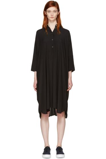 6397 - Black Silk Big Square Dress