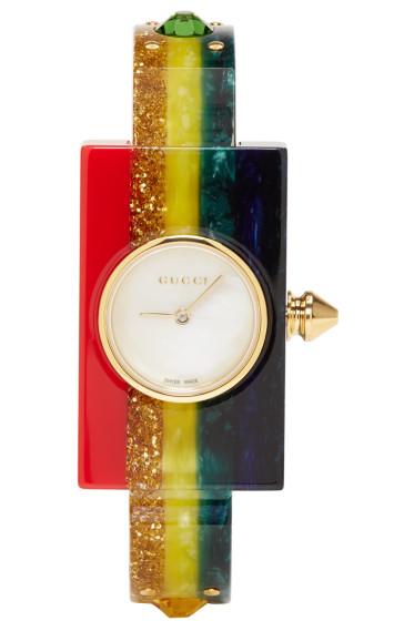 Gucci - Multicolor Rainbow Plexiglass Watch
