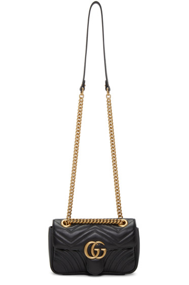 Gucci - ブラック ミニ マルモン 2.0 ショルダー バッグ