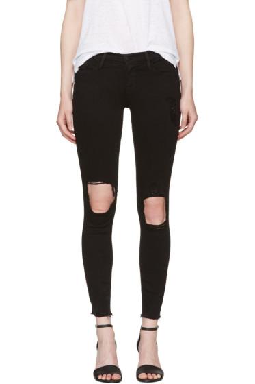 Frame Denim - Black 'Le Skinny de Jeanne' Crop Jeans
