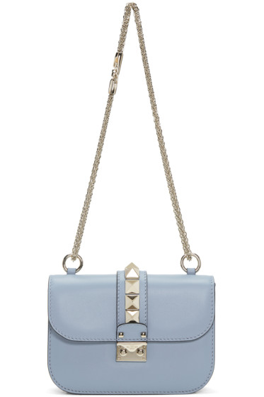 Valentino - Blue Small Rockstud Lock Bag