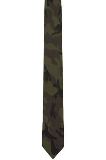 Valentino - Green Camo Tie