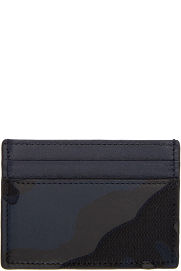 Valentino - Navy Camo Card Holder
