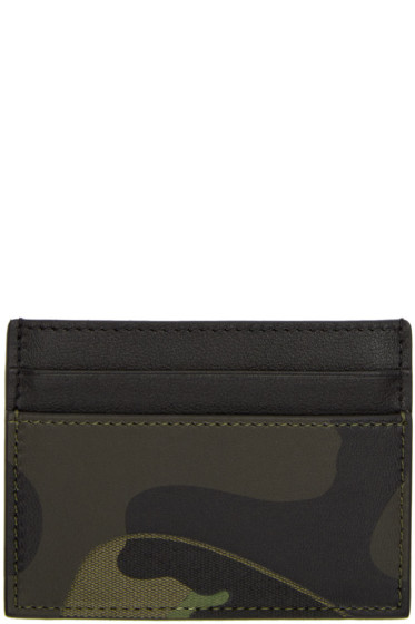 Valentino - Green Camo Card Holder