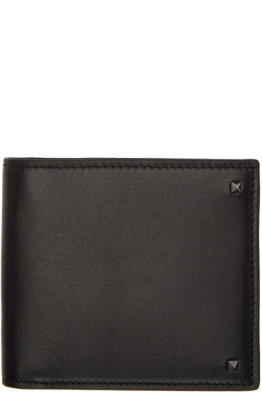 Valentino - Black Mini Rockstud Wallet