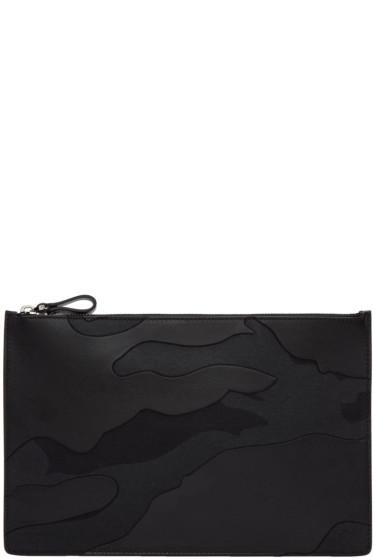 Valentino - Black Large Camo Pouch