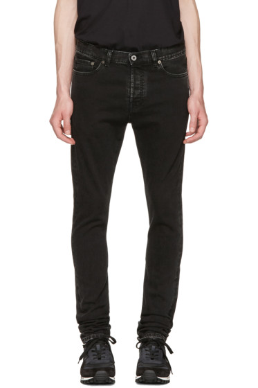 Valentino - Black Marble Wash Skinny Jeans