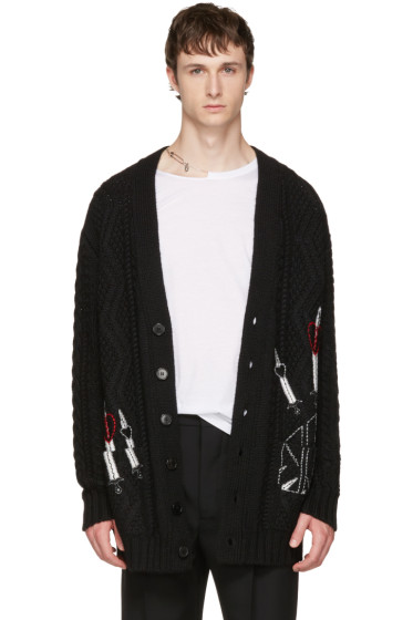 Valentino - Black Love Blade Cardigan