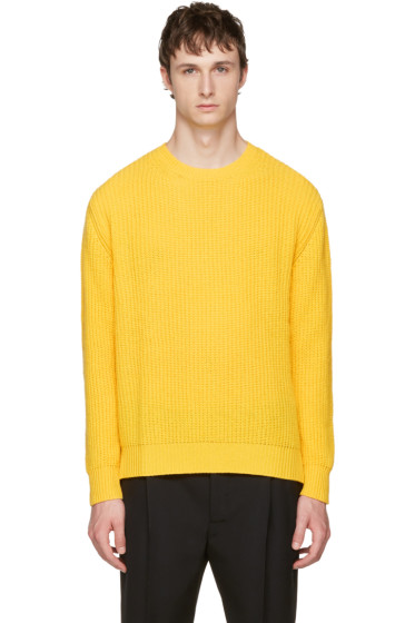 Valentino - Yellow Cashmere Crewneck Sweater