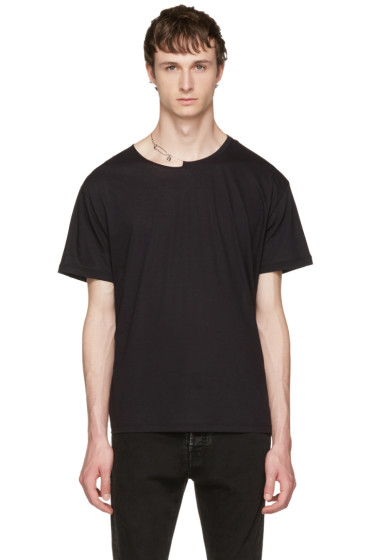 Valentino - Black Pin Necklace Punk T-Shirt