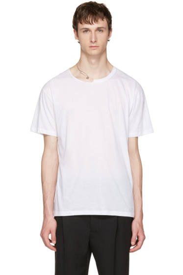 Valentino - White Pin Necklace Punk T-Shirt