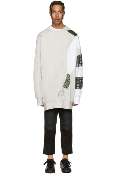 J.W. Anderson - SSENSE Exclusive Grey Kelly Beeman Edition Oversized Graphic Pullover