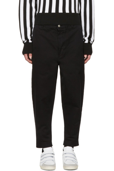AMI Alexandre Mattiussi - Black Carrot Fit Worker Trousers