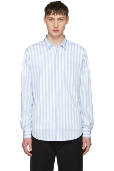 AMI Alexandre Mattiussi - Blue Striped Wide Shirt