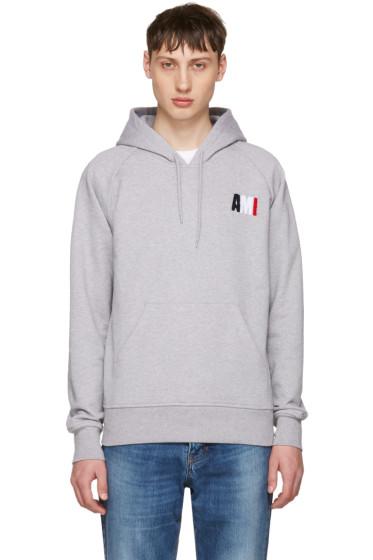 AMI Alexandre Mattiussi - Grey Logo Hoodie