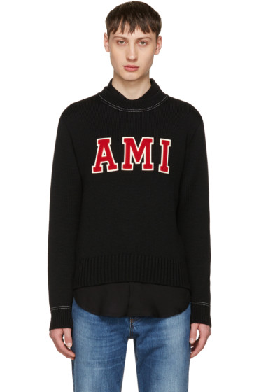 AMI Alexandre Mattiussi - Black Logo Sweater