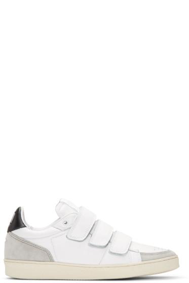 AMI Alexandre Mattiussi - White & Black Straps Sneakers