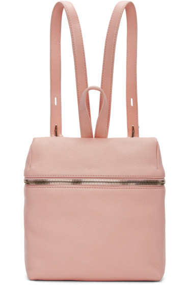 Kara - Pink Small Leather Backpack