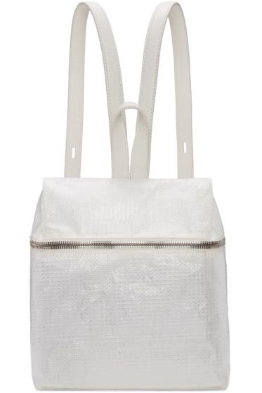 Kara - White Small Tarp Backpack
