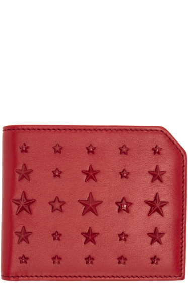 Jimmy Choo - Red Mixed Stars Albany Wallet
