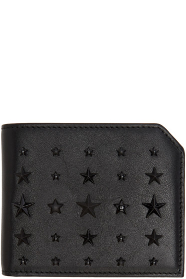 Jimmy Choo - Black Mixed Stars Albany Wallet