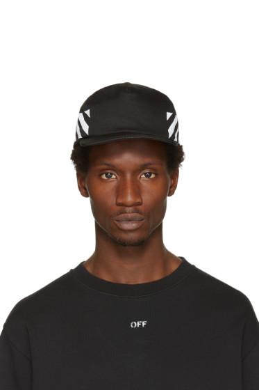 Off-White - Black Diagonal Brushed Cap