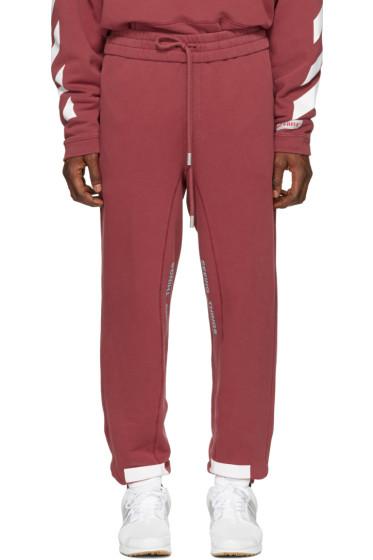 Off-White - Red Diagonal Arrows Lounge Pants