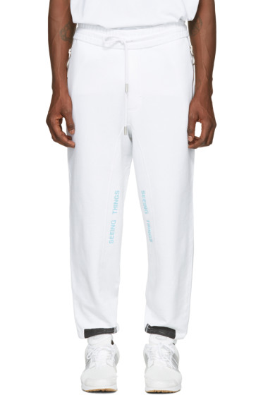 Off-White - White Diagonal Brushed Lounge Pants