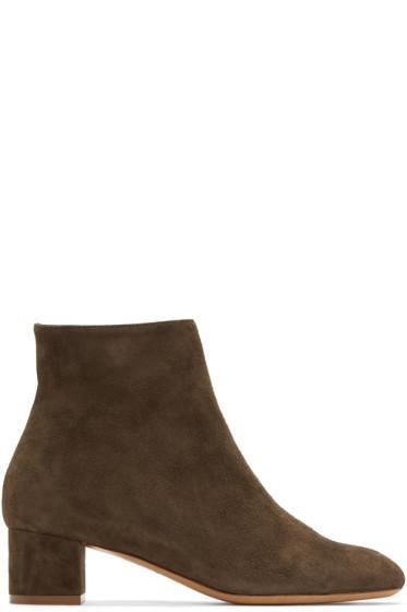 Mansur Gavriel - Brown Suede Ankle Boots