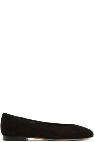 Mansur Gavriel - Black Suede Ballerina Flats