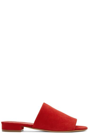 Mansur Gavriel - Red Suede Flat Mules