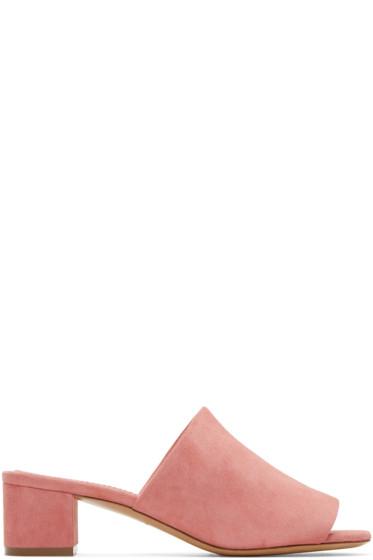 Mansur Gavriel - Pink Suede Mules