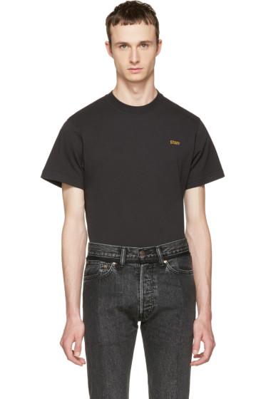 Vetements - ブラック ベーシック Staff T シャツ