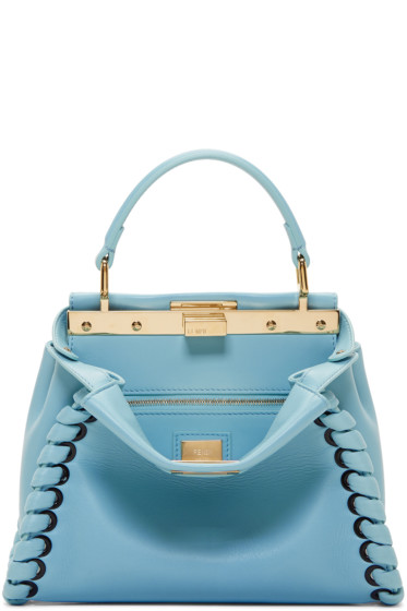 Fendi - Blue Mini Peekaboo Bag