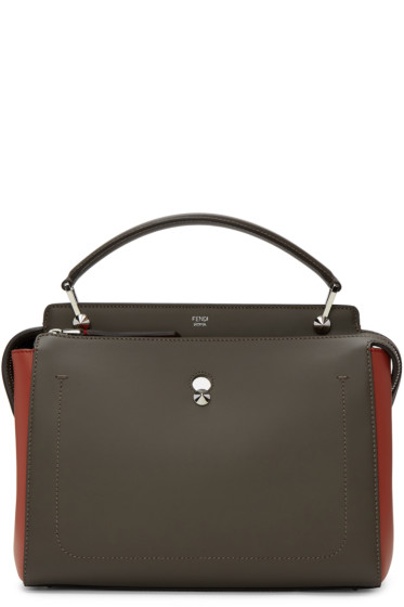 Fendi - Taupe & Red Dotcom Click Bag