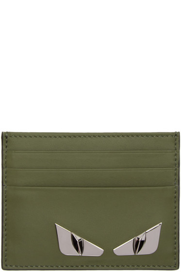 Fendi - Green 'Bag Bugs' Card Holder
